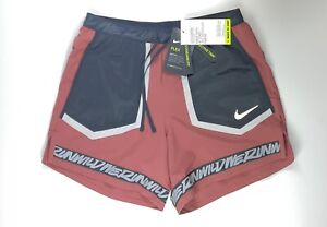 "Nike Flex Wild Run Dri Fit 5"" Reflective Running Shorts CU5713-652 Small $55"