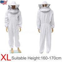 XL Beekeeper Protect Beekeeping Suit Jacket Safty Veil Hat Body Equipment Hood
