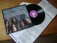 DEEP PURPLE MACHINE HEAD UK 1st Press PURPLE LABEL LYRIC SHEET 1972 NEAR MINT
