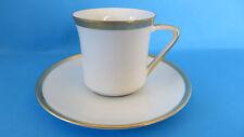 KPM Krister Cream Thick Gold Trim Teacup & Saucer