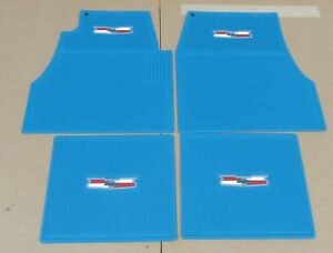 1955 1956 1957 CHEVY TURQUOISE FLOOR MATS , NEW set 4 ** USA MADE **