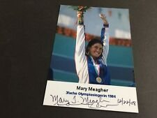 Mary Meagher signed photo 10x14 3x Champion 1984 Swim