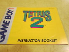 INSTRUCTION BOOKLET FOR THE VERY FIRST GAME BOY GAME  TETRIS 2
