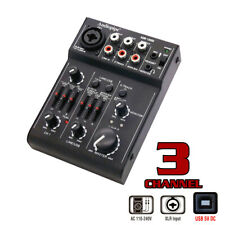 Audiopipe 3 Channel Mic-Line Mixer-USB Audio Interface ( AQM-1300U )