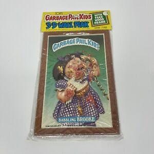 Vintage TOPPS Garbage Pail Kids 3D Wall Plak Fake Wood Frame Banking Brooke 1986
