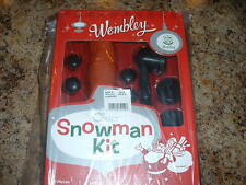 NEW Wembley SNOWMAN 12 Piece Kit With Eyes, Nose, Mouth, Buttons &  Pipe.