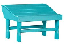 Aruba Blue Chair Footrest - 4 Season All Weather Poly Outdoor Adirondack Ottoman