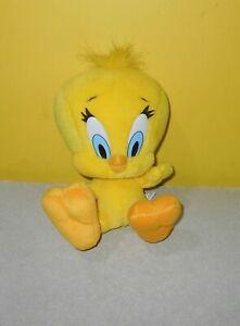 "10"" Looney Tunes Play By Play Tweety Stuffed Plush Classic Cartoon Big Feet"