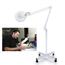 Neu 5 Lupe Lupenlampe Lampe Lupe Kosmetikstudio Lupenleuchte auf Stativ 10-13w