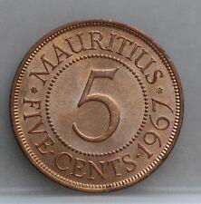 Mauritius - five cents 1967 - KM# 34