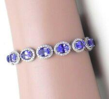 Black Friday 15 Ct Oval Tanzanite & Sim Diamond Women's Tennis Bracelet