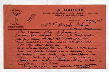 """PARIS (IV°) USINE de VILLEJUIF / COLORANTS & DROGUERIE """"A. BARDON"""" en 1918"""
