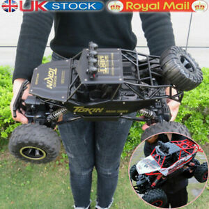 Large Remote Control RC Cars Big Wheel Car Monster Truck 4WD Kid Toy Electric UK