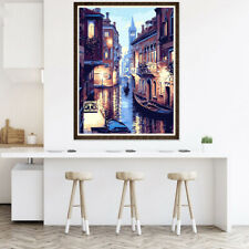 Night River City Unframed Paint By Numbers DIY Oil Painting Art Wall Decor SUPER