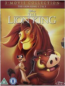 The LION KING 1-3 TRILOGY DVD REGION 4 (AUS) WALT DISNEY  BOXSET New & Sealed