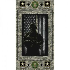 Military United States Army Armed Service 24x44 Cotton Fabric Panel