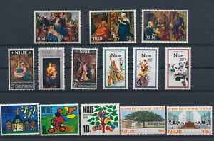 LN74801 Niue christmas religious art fine lot MNH