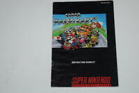 Super Mario Kart Super Nintendo SNES Video Game Manual Only