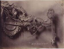 Paris Enseigne Clef Louis XV Fer forgé France Vintage ca 1890