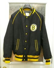 VINTAGE OFFICIAL NHL BOSTON BRUINS SHAIN PROFESSIONAL CORDOROY JACKET SIZE MEN L