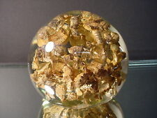 Rare Vintage St Clair Art Glass Gold Pyrite Paperweight 3 Dimensional Look Retro