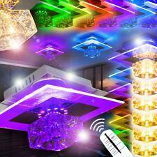 LED Lámpara de techo clara con mando a distancia para cambias colores y luces