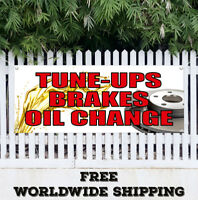 Banner Vinyl TUNE UPS BRAKES OIL CHANGE Advertising Sign Flag Car Auto A/C Tire