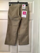 """A+ Arthur's Durable Wear Youth Girls Size 5"""" Reg. Beige School Pants New!❤"""