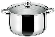 Buckingham Induction Stainless Steel Deep Casserole Pan w / Glass Lid 24 - 28 cm