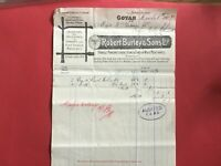Robert Burley and Sons Handle Mfr Home & Foreign Wood 1907 Govan  receipt R33189