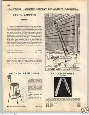 1932 PAPER AD Myers' Store Library Rolling Bicycle Ladder Ladders Track
