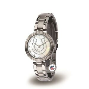 Indianapolis Colts Charm Watch with Stainless Steel Band