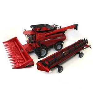 1/16 Big Farm Case IH 8240 Combine w/ 2 Headers & Header Trailer 46491-46622-Kit