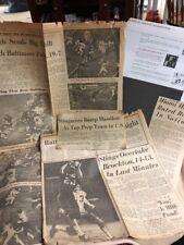 4-1960s HIGH SCHOOL Football NEWSPAPER TEAM PICS & ARTICLES  Miami FL