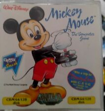 Mickey Mouse Computer Game (Gremlin 1988) C64 Diskette (Box Disk Manual) 100% ok