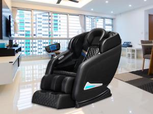 vComfort™ Full Body Zero Gravity Electric Shiatsu Massage Sofa Chair, Black