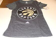 Toronto Raptors NBA Basketball Women Ladies Black T Shirt Triblend V Neck XL