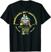 Woodstocks 50th Anniversary Peace Love T-Shirt  S-5XL