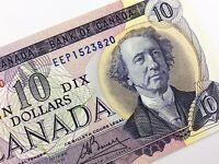 1971 Canada 10 Dollar Uncirculated EEP Lawson Bouey Banknote Ten Dollar R376