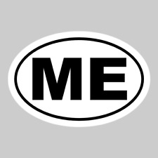 Maine Oval Car Decal Window Bumper Wall Sticker You Pick Color