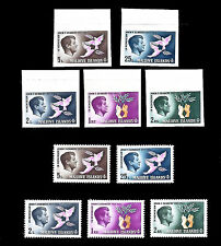 MALDIVE ISLANDS 1965 In Memory of John F. Kennedy Perf and Imperf Sets MNH