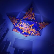 UV Canopy 1 Hexagon + 6 Triangles Fluoro Psy Trance Ceiling Party Festival Deco