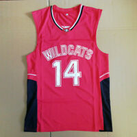 Troy Bolton #14 East High School Wildcats Basketball Jersey Stitched Red
