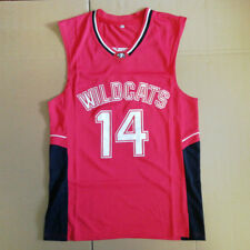 Wildcats Troy Bolton #14 East High School Basketball Jersey Stitched Red