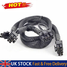More details for pci express gpu 8pin to dual 8(6+2)pin power cable for graphics card uk saller