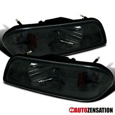 87-93 Ford Mustang Smoke Crystal Headlights Corner Signal/ Parking Lights