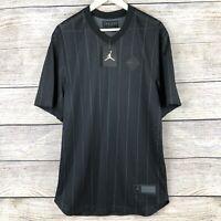 NIKE AIR JORDAN Retro 9 Sportswear Jersey Men's Shirt Black AH9909-010 SIZE L