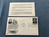 US Scott #1264 Winston Churchill Westminster College FDC First Day Cover 5c