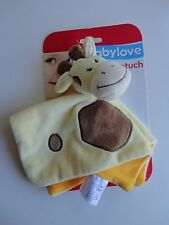 Babylove Schmusetuch Giraffe ca. 20 cm. auch als Fingerpuppe zu verwenden