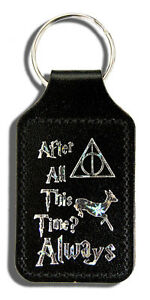 After All this Time Always - Harry Potter Bonded Leather Themed Keyring